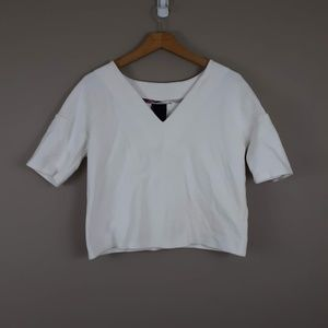 Anthropologie Dolan White V-neck T-shirt Size S